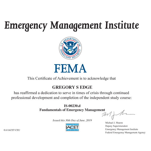 FEMA IS 230d cert.jpg